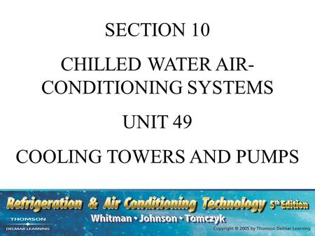 CHILLED WATER AIR-CONDITIONING SYSTEMS