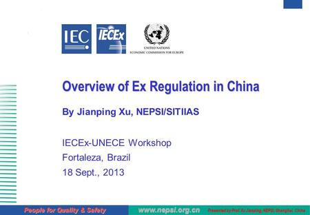 Overview of Ex Regulation in China