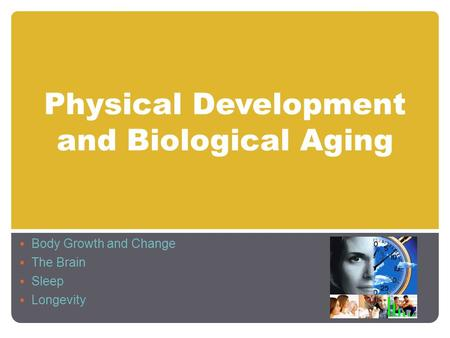 Physical Development and Biological Aging  Body Growth and Change  The Brain  Sleep  Longevity.
