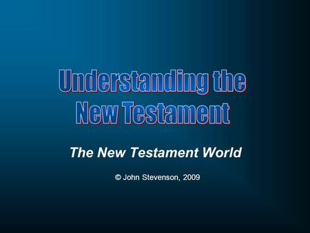 The New Testament World © John Stevenson, 2009. How has the New Testament been used by politicians for political gain?