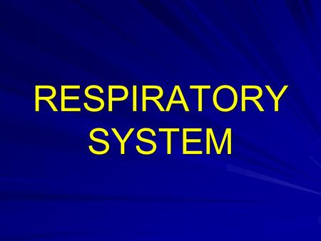 RESPIRATORY SYSTEM. The respiratory system is formed of 2 functional components: –Conducting portion: for the transport of inspired and expired air between.