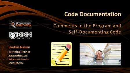 Comments in the Program and Self-Documenting Code