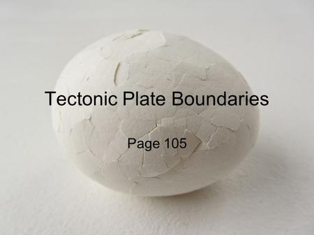 Tectonic Plate Boundaries