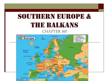Southern Europe & the Balkans chapter 16!!. I. The Iberian Peninsula.