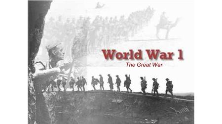 The Great War. MAIN Causes for War in Europe 1.M ilitarism Building up of armies 2.A lliance Systems 3.I mperialism 4.N ationalism A devotion to the interest.
