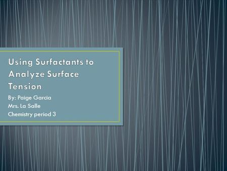 Surface Property And Hydrogen Bonding Amber Sager Ppt