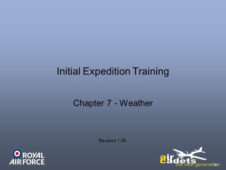 Initial Expedition Training Chapter 7 - Weather Revision 1.00.