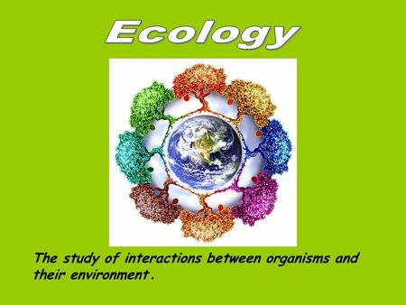 The study of interactions between organisms and their environment.