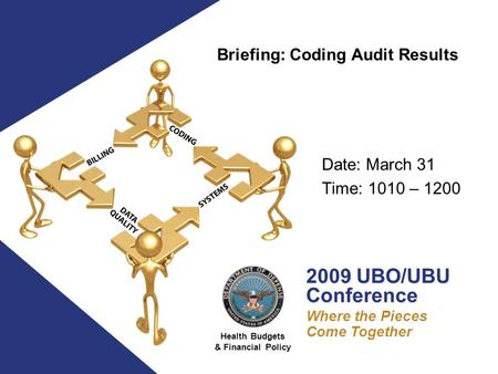 Health Budgets & Financial Policy 2009 UBO/UBU Conference 2009 UBO/UBU Conference Where the Pieces Come Together Date: March 31 Time: 1010 – 1200 Briefing: