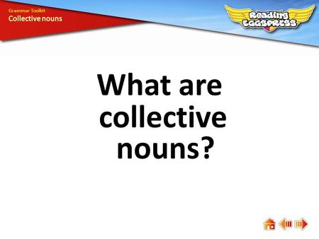 What are collective nouns? Grammar Toolkit. A collective noun names a group or collection of people or things. familyherdpair.