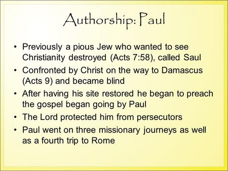 I Thessalonians - Introduction & 1:1-5