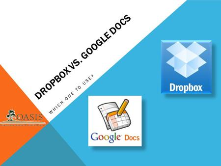 DROPBOX VS. GOOGLE DOCS WHICH ONE TO USE?. QUESTIONS TO ASK YOURSELF – SELF ASSESSMENT Do you have too many copies of the same files on multiple computers?