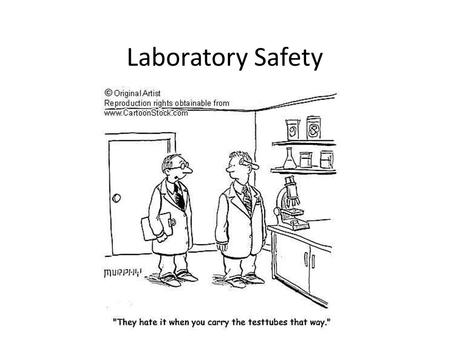 Laboratory Safety. Recognize Safety Symbols In the following slides, you will see a safety symbol that is represented on your sheet of paper. Guess the.