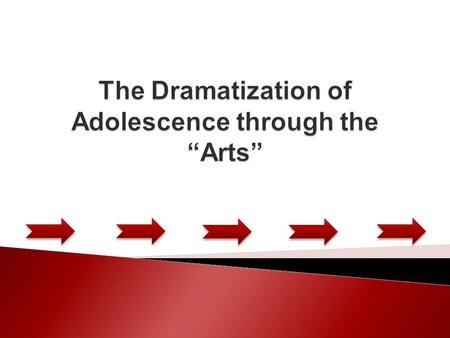  During the previous school year we attended the ''Project''. We explored the topic of adolescence and the ways that it is expressed through the arts.