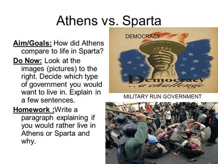essay on athens and sparta Athens and sparta may be on the same country and even on the same continent, but many differences can be found between these two city-states.
