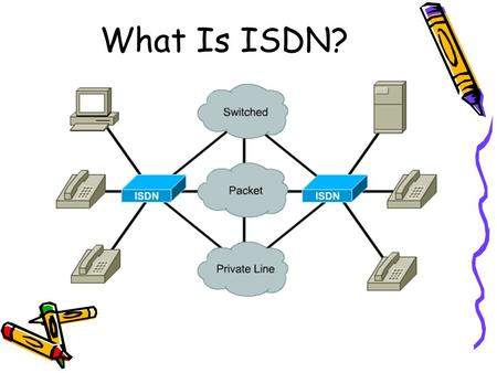 What Is ISDN?. ISDN Benefits Carries a variety of user traffic, such as digital video, data, and telephone network services, using the normal phone circuit-