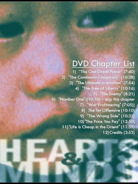 "DVD Chapter List 1)""The One Great Power"" (7:40) 2)""The Communist <strong>Conspiracy</strong>"" (10:38) 3)""The Ultimate in Aviation"" (7:54) 4)""The Tree of Liberty"" (10:16)"