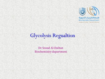 Glycolysis Regualtion
