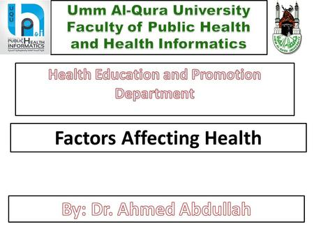 Factors Affecting Health