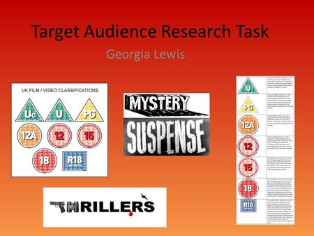 Target Audience Research Task Georgia Lewis. Disturbia(2007) Disturbia's genre is a thriller with sub categories of drama and mystery. The certificate.