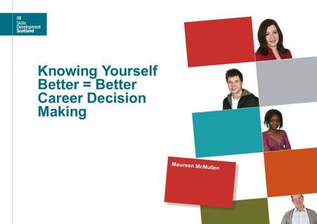 Knowing Yourself Better = Better Career Decision Making Maureen McMullen.