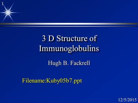 3 D Structure of Immunoglobulins