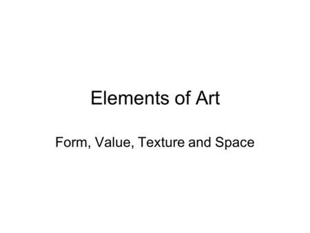 S p ac e space vocabulary the element of art that refers for Definition of form and space in architecture