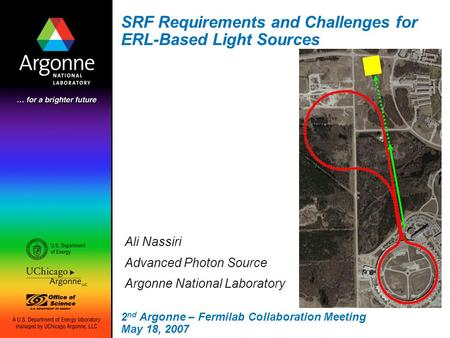 SRF Requirements and Challenges for ERL-Based Light Sources Ali Nassiri Advanced Photon Source Argonne National Laboratory 2 nd Argonne – Fermilab Collaboration.