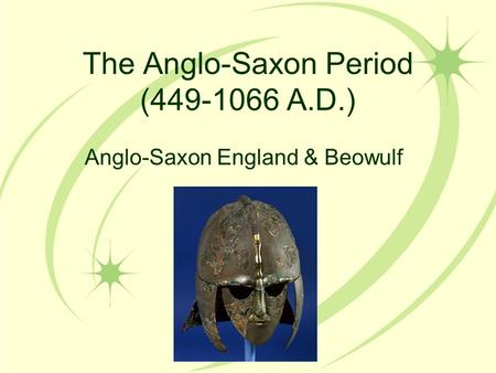 the anglo saxon period and beowulf Get an answer for 'beowulf was written during the anglo-saxon period in england what is the main difference between anglo-saxon and anglo-norman' and find homework help for other beowulf questions at enotes.