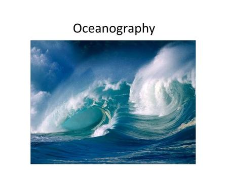 Oceanography. Intro to Earth Video introduction to the formation of the solar system. Video.