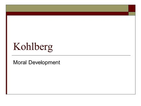 an analysis of rules and standards in cognitive moral development theory by lawrence kohlberg Kohlberg believed there were three levels and six stages of moral development the first, the preconventional level, is the level at which young children operate morality is seen as outside the self, a set of rules imposed upon children by adults.