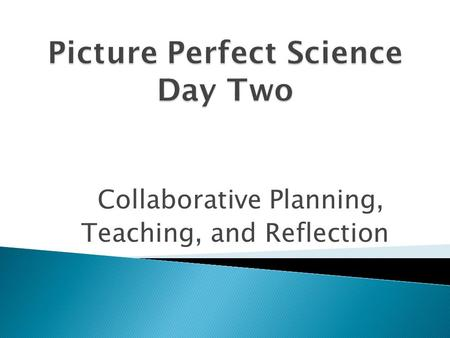 Collaborative Planning, Teaching, and Reflection.