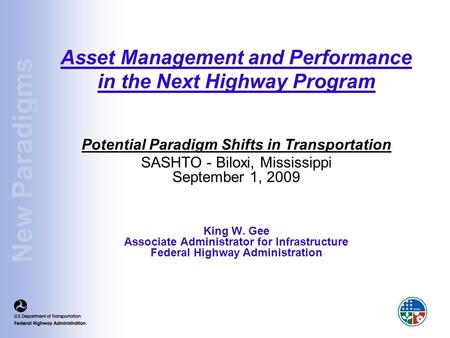 Asset Management and Performance