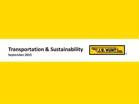 1 Transportation & Sustainability September 2015.