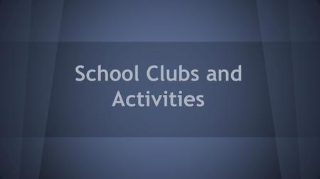 School Clubs and Activities. Forest Hills Northern High School.