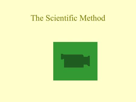 The Scientific Method. Objectives Explain how science is different from other forms of human endeavor. Identify the steps that make up scientific methods.
