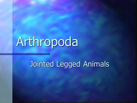 Arthropoda Jointed Legged Animals. Introduction More than a million artrhopods have been identified to date. More than a million artrhopods have been.
