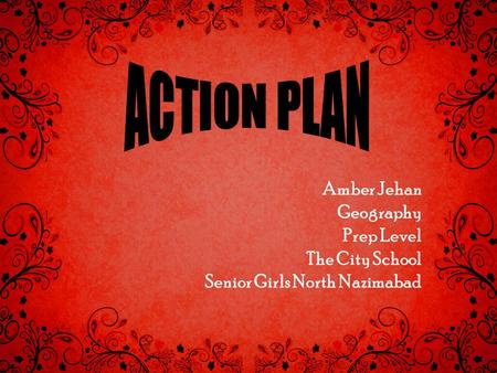 Amber Jehan Geography Prep Level The City School Senior Girls North Nazimabad.