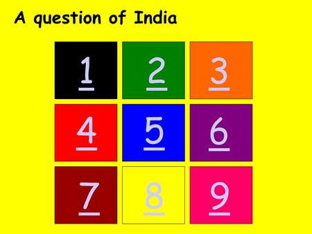 123 45 6 789 A question of India. Back 13x India is 13 times larger than the UK. India has an area of 3.3 million sqkm whereas the UK has an area of.