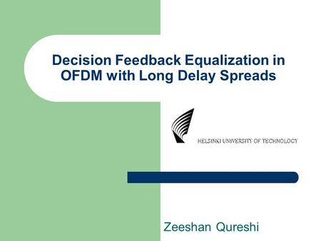 Decision Feedback Equalization in OFDM with Long Delay Spreads