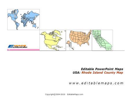 Copyrightc2004 2010 Editablemaps Com Editable Powerpoint Maps Usa Rhode Island County