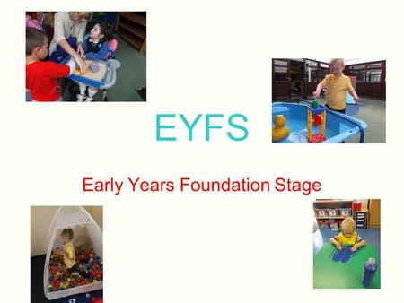 EYFS Early Years Foundation Stage. Merefield School Encounter and Discover Curriculum Age 3-7 years Incorporates EYFS guidance using Development Matters/Quest.