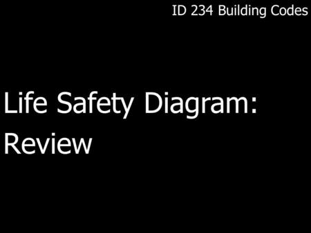 ID 234 Building Codes Life Safety Diagram:Review.