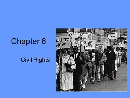 Chapter 6 Civil Rights. Early Slavery Issues Congress banned slave trade in 1808. –20 year period specified by Constitution Battle of north vs. south.