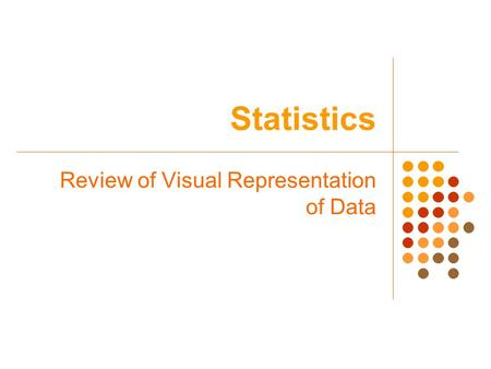 Statistics Review of Visual Representation of Data.