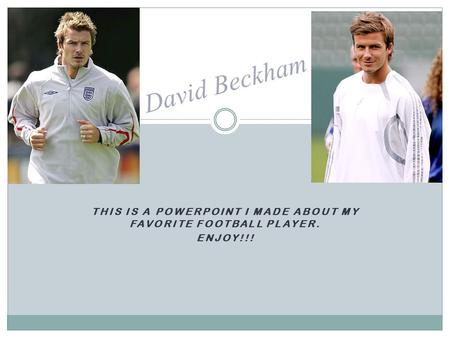 This is a PowerPoint I made about my favorite football player.