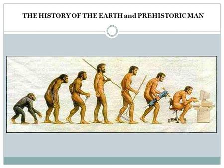 THE HISTORY OF THE EARTH and PREHISTORIC MAN. HISTORY OF THE EARTH Modern Science believes that the EARTH has existed for approximately 4.54 BILLION YEARS.