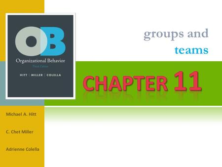 Chapter 11 groups and teams Michael A. Hitt C. Chet Miller