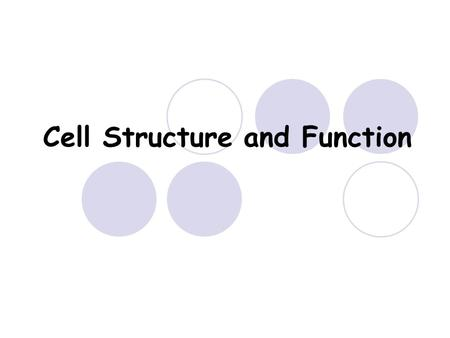 Cell Structure and Function. OBJECTIVE Today we will talk about the difference between prokaryotic and eukaryotic cells. We will also review for the quiz.