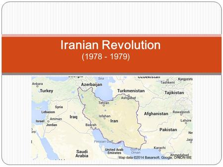 (1978 - 1979) Iranian Revolution. The Iranian Revolution began when many Iranians and citizens within Iran were very dissatisfied with the rulership of.